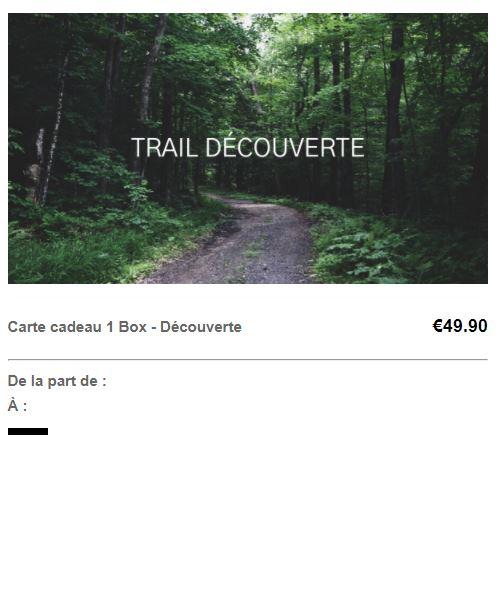 Carte cadeau trail découverte