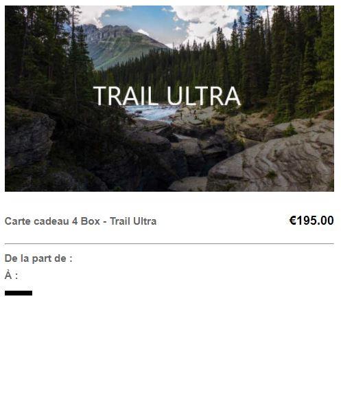 Carte cadeau trail ultra